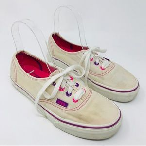 Vans 90s Style Off the Wall Neon White Sneakers